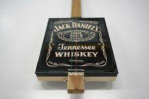 Jack Daniels 3 String Guitar, Cigar Box Style Nerang Gold Coast West Preview