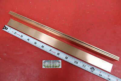 4 Pieces 18 X 1 C110 Copper Bar 14 Long Solid Flat Mill Bus Bar Stock H02