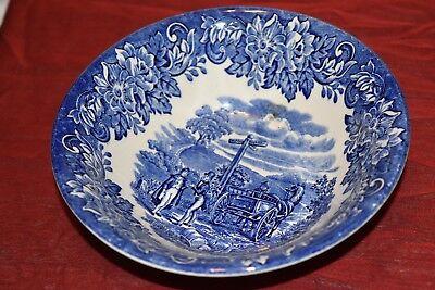 English Ironstone Tableware - Vtg English Ironstone Tableware Blue Dickens Series 6.25 inch Cereal Bowl