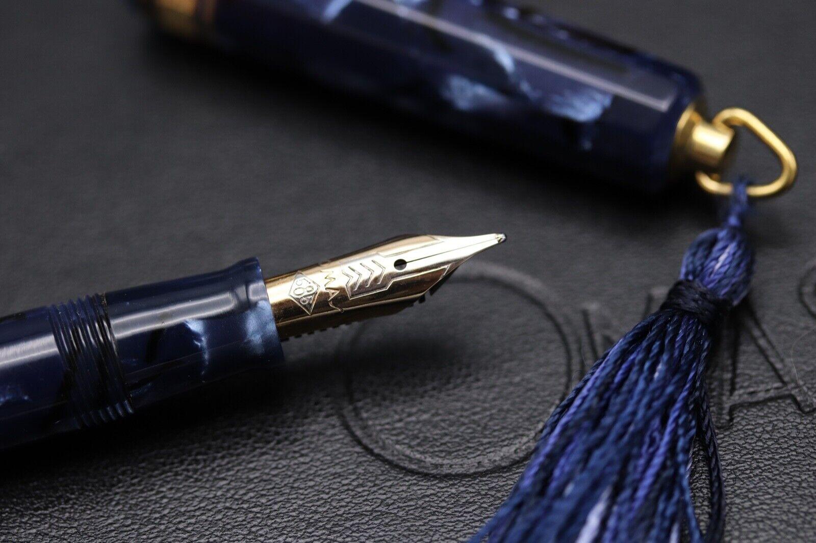Omas Princess Blue Royale Celluloid Fountain Pen 5