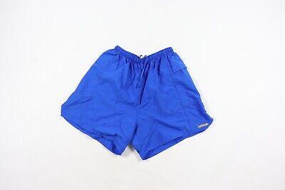 Vintage 90s Hind Mens Medium Padded Nylon Triathlon Cycling Running Shorts Blue