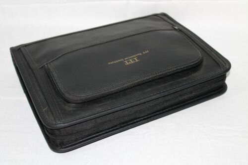 New 8.5x11 3-Ring Zippered Organizer Padfolio Binder Faux Le