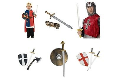 Holy Grail Costumes (Kids Fancy Dress Knight Crusader Medieval Sword Kits Monty Python Holy Grail)