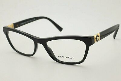 New Authentic Versace 3272 Women Eyeglasses GB1 Black Frames 52mm