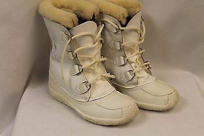 White Sorel Kaufman Chugalug Snow Boots Canada, Wool Liners Size 7