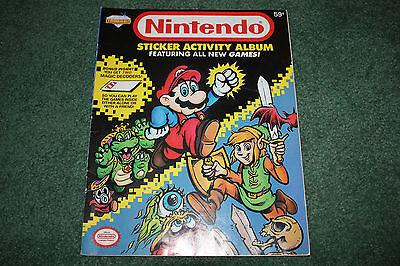 Rare Vintage 1989 Nintendo Sticker Activity Album Diamond MARIO ZELDA
