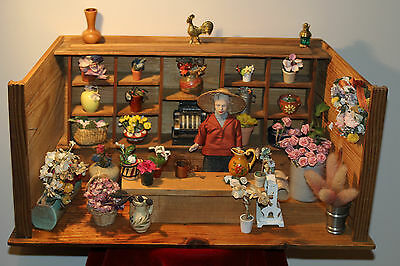 ♛ kleiner antiker Blumenladen / magasin de fleur antique / antique flower shop ♛