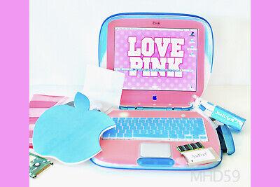 "Apple iBook Clamshell ""PINK"" Mac OS 9.2.2 + Big 40GB HD = SUPERB ⭐️⭐️⭐️⭐⭐"