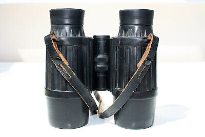 VINTAGE CARL ZEISS JENA NOTAREM 8 x 32B RUBBER ARMOURED BINOCULARS.