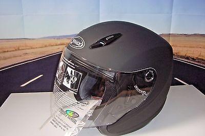Motorcycle Helmet GMAX Gm17 Open Face DOT Flat Black Xs 72-4801XS G317073 Blk HB