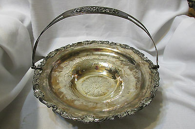 Vintage Silver Plated centerpiece Bride's basket  Delavan & Brother New York
