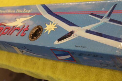 "GreatPlanes, Spirit, R/C Balsa Sailplane Kit,78"" 2m, Vintage"