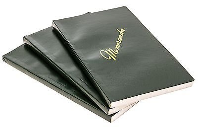 NEW 3 Pack US Army Military Green Memo Book Memorandum Notebook Side Bound