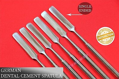 Dental Cement Spatula Mixing Tools Round Handle Single Ended Laboratory