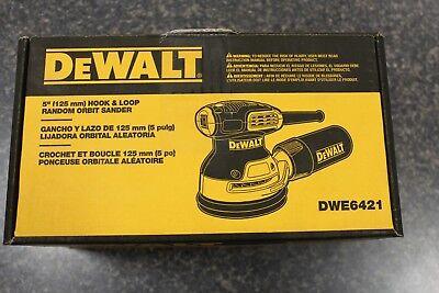 NEW DWE6421 DeWalt 5 in. Corded Random Orbit Sander 3 amps Yellow 12000 opm