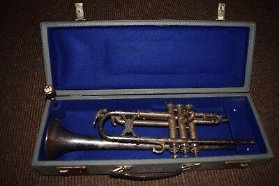 Old Trumpet: Verm.hermann Heinel Migma ; Markneukirchen Pre-war Model (539-17)
