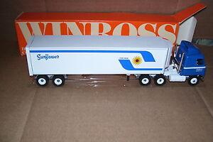 1990-Sunflower-Carriers-Inc-Reefer-Winross-Diecast-Trailer-Truck