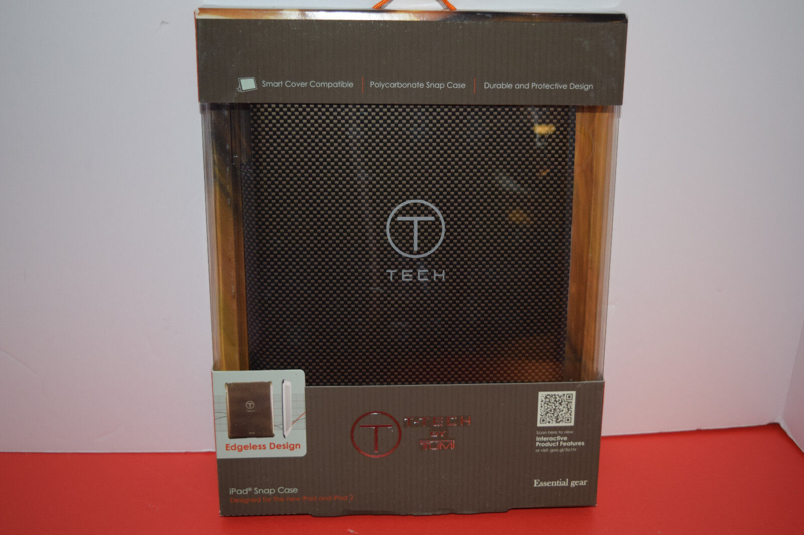 Tumi T-tech Polycarbonate Snap Case For Ipad1 Or Ipad2 Carbon Fiber Pattern New