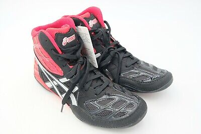 c9a969c01 Asics Men s Split Second 9 Wrestling Shoe Red Silver Black Size US 8.5 Used