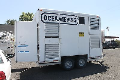 Oceaneering Compressor Generator Trailer Pioneer Dryer 239 Hours Air Breathing