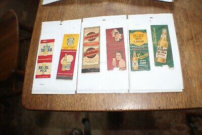 Matchbook Lot Of 70+ Books  Front Strike Vintage Mostly Liquor and Automotive
