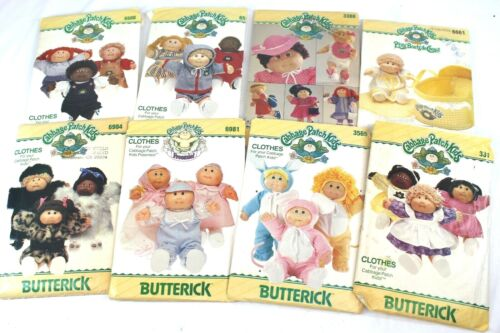 Butterick Cabbage Patch Kids Clothes Patterns Lot Of 8 All Look To Be Uncut