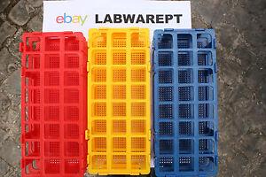 Tubo-De-Ensayo-Rack-Gradillas-de-polipropileno-24-agujeros-de-25-mm-Rojo