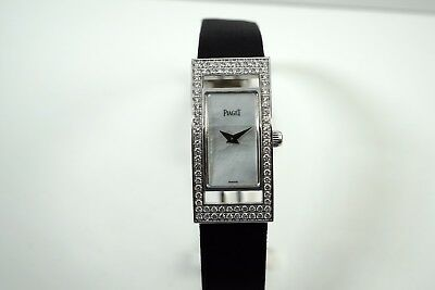 PIAGET LIMELIGHT  18K WHITE GOLD WITH DIAMONDS MOP DIAL LADIES VERY NICE