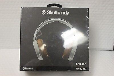 Brand New Skullcandy Crusher Bluetooth Wireless Headphones Gray Tan