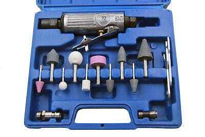 Druckluft Stab Schleifer Schleifmaschine Schleifgerät Fräser Set Multischleifer