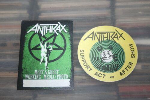 Anthrax - 2x unused Backstage Pass - -    Free Postage -