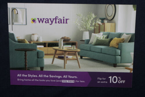 ☆WAYFAIR 10% OFF FIRST-TIME SHOPPER COUPON ☆ EXP 8/3/21 ☆ SAME DAY E-DELIVERY