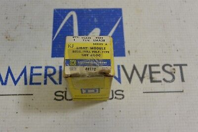 SQUARE D 9001 LMA38  120 volt Light Module  KJ  ser A  New Surplus