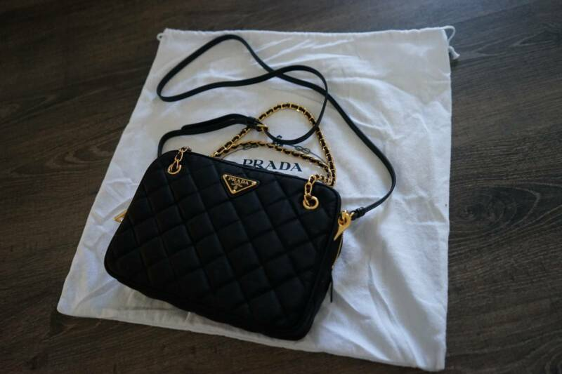 b68b44085a9a2b Authentic Prada BL0910 Tessuto Nylon 2way Chain sling bag handbag | Bags |  Gumtree Australia Queensland - Brisbane Region | 1209314085
