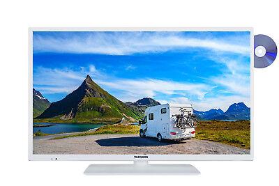 Telefunken XH24E401VD-W Smart TV mit DVD-Player 24 Zoll HD-TV Triple-Tuner