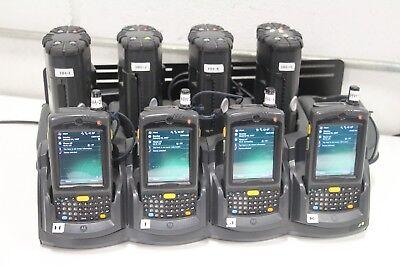 Lot Of 4 Motorola Mc7596 Barcode Scanner Mobile Computer W Bluetooth Printer