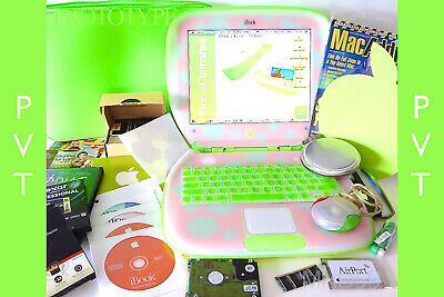 "Apple iBook Clamshell G3 KEY LIME PINK 467 ""PVT"" Prototype SSD Dual OS ⭐️⭐️⭐️⭐️⭐"