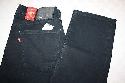 Levis Men's 505 Regular Fit Blue Jeans NWT Black Label Stretch Redtab Nightwatch