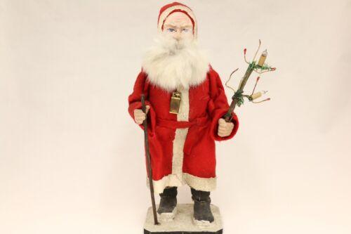 Santa with Electric Lights & Basket 1910