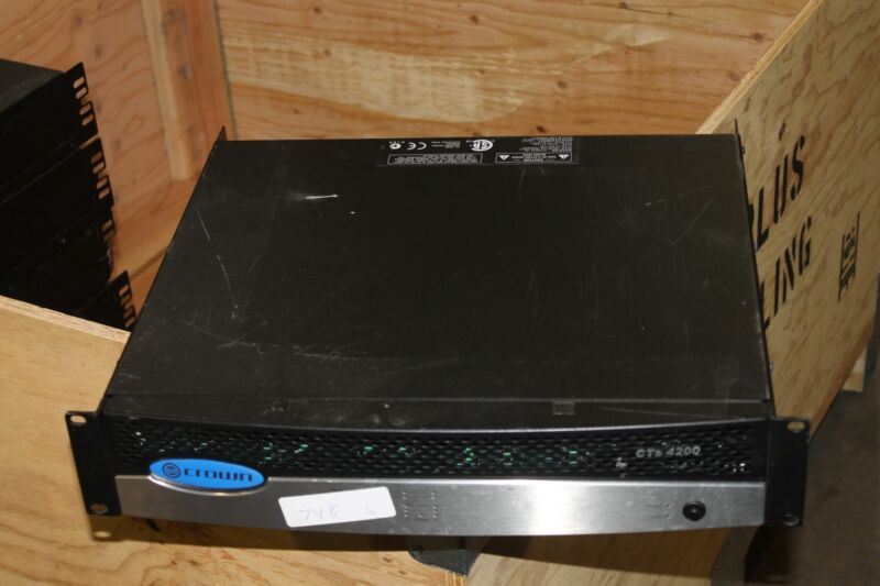 Crown CTS-4200 Amplifier CTS4200 Amp