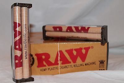 1 RAW HEMP PLASTIC ROLLING PAPER MACHINE HAND ROLLER 110MM KING SIZE cheapest