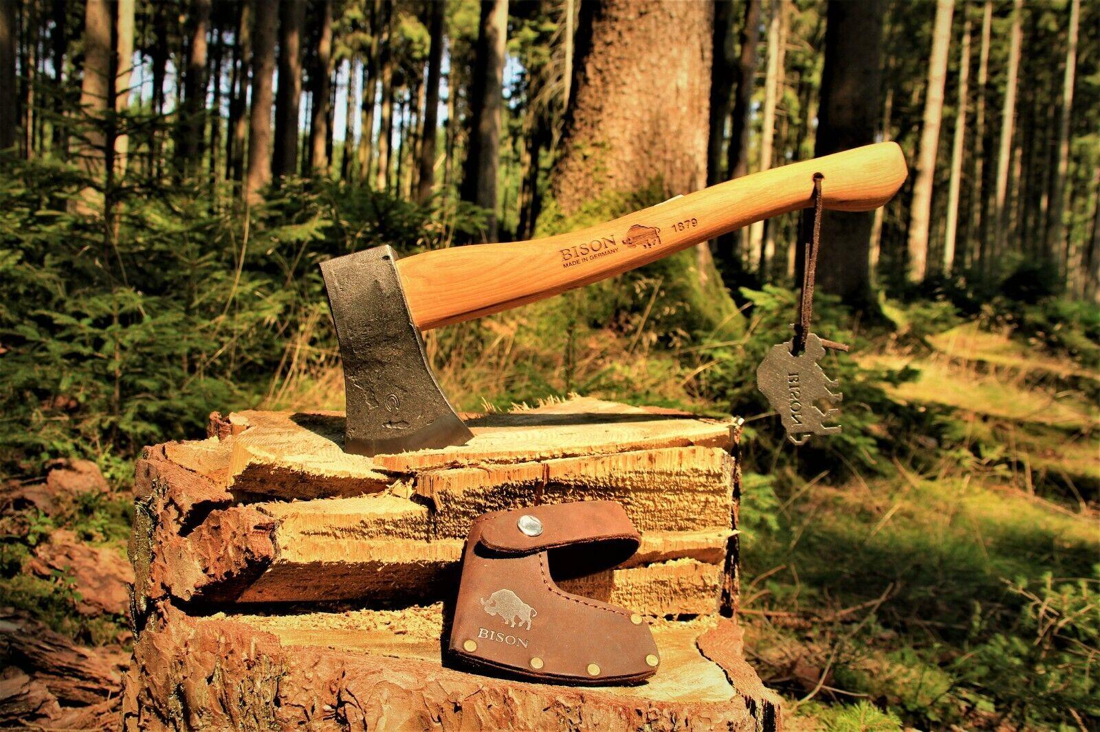 Handgeschmiedetes Bison 1879 Outdoorbeil Beil Axt Outdoor Survival Made-in-GER