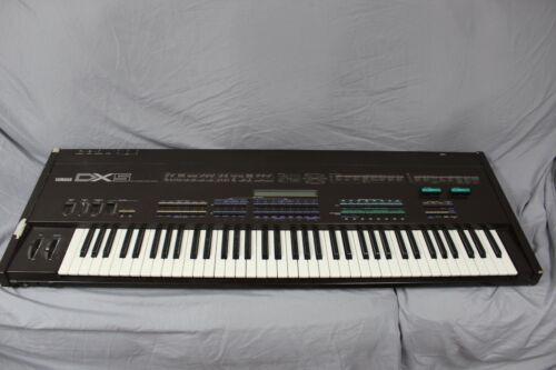 Yamaha DX 5 Synthesizer Keyboard W/ 2 Rom Cartridges