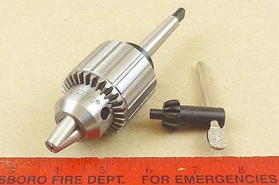 New Genuine Mt1 Jacobs 33 Tailstock Drill Chuck 4 Lathe 12 Capacity Key