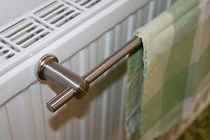 edelstahl handtuchhalter 40 cm magnetisch halterung heizk rper handtuchstange ebay. Black Bedroom Furniture Sets. Home Design Ideas