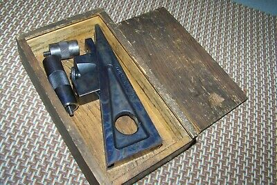 Vintage Starrett 246 Planer Shaper Gage With Attachments Wwood Case Used