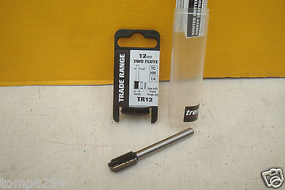 "TREND TR12 12MM TCT HINGE JIG ROUTER CUTTER 1/4"" SHANK"