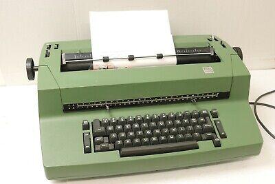 Vintage Olive Avocado Green Ibm Selectric Ii Electric Typewriter Tested Works