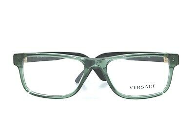 Versace VE3211 5144 Transparent Green/Black New Authentic 53