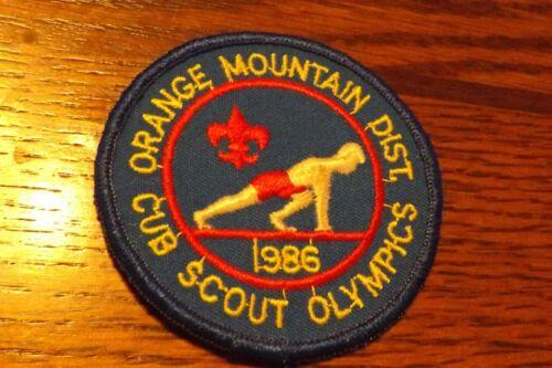 BOY SCOUT PATCH 1986 ORANGE MOUNTAIN DISTRICT